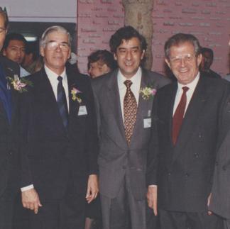 Presidentes de la AEO: Padre Ángel Andreetta, Arcadio Arosemena, Gian Luigi Zunino y Max Konanz - 1995.