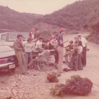 Excusión familiar a las montañas de Puerto Cayo - 1976.