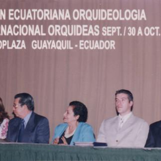 Acto inaugural de la X Exposición Internacional de Orquídeas del Ecuador, 2004.
