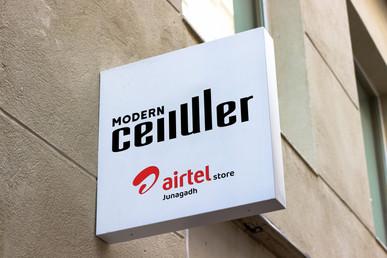 logo design for firm of airtel store jnd