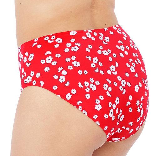 Plain Sailing Bikini Brief - Red Floral