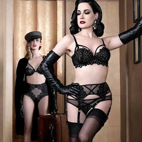 Dahlia Suspender - Black