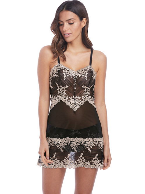 Embrace Lace Chemise - Black