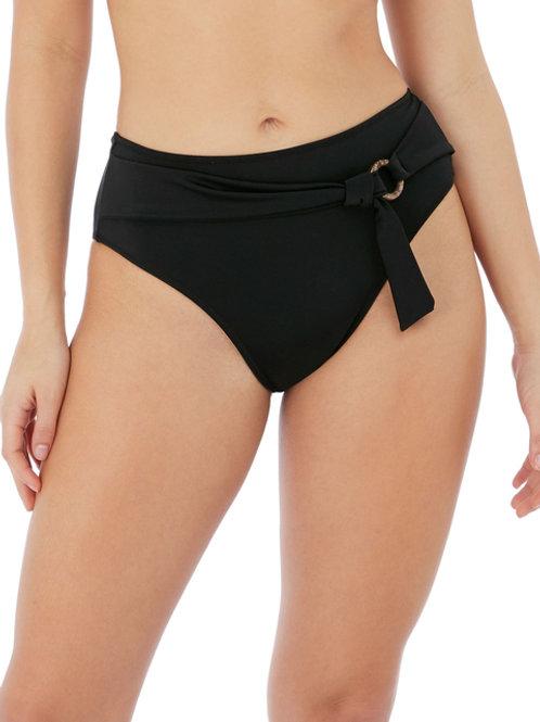 Coco Wave High Waist Bikini- Black