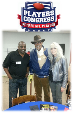 NFL Players Conference event 012817 Reggie Berry, Rosie Grier & Mrs