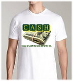 Cash t shirt image by Reginald Grant WHI