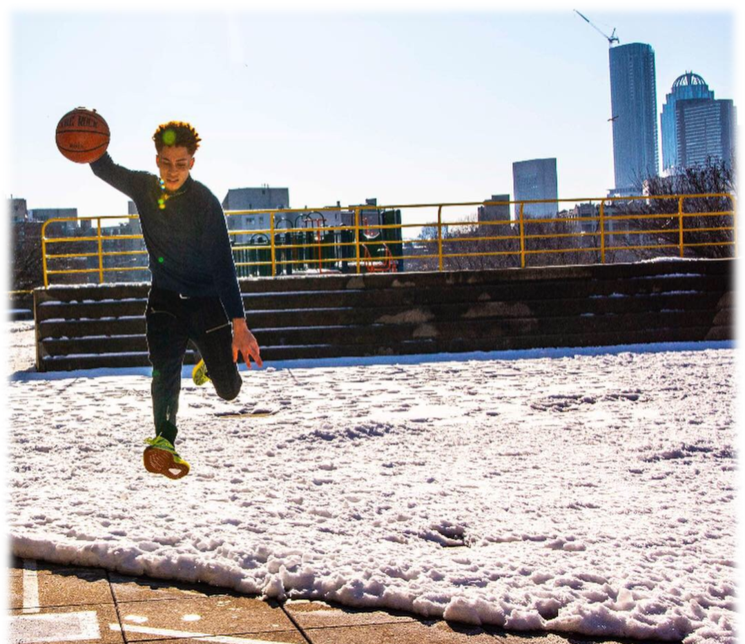 Zack March 2019 8 Basketball in the snow