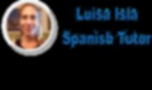 Luisa Isla Spanish Tutor w name Blue tex