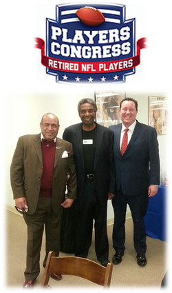 NFL Players Conference event 012817 Anthony Davis, Bob Grant, Business Assoc