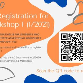 Online Registration for AD Workshop I (1/2021)