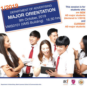 Congratulation! AD Major Selection Results 1/2019