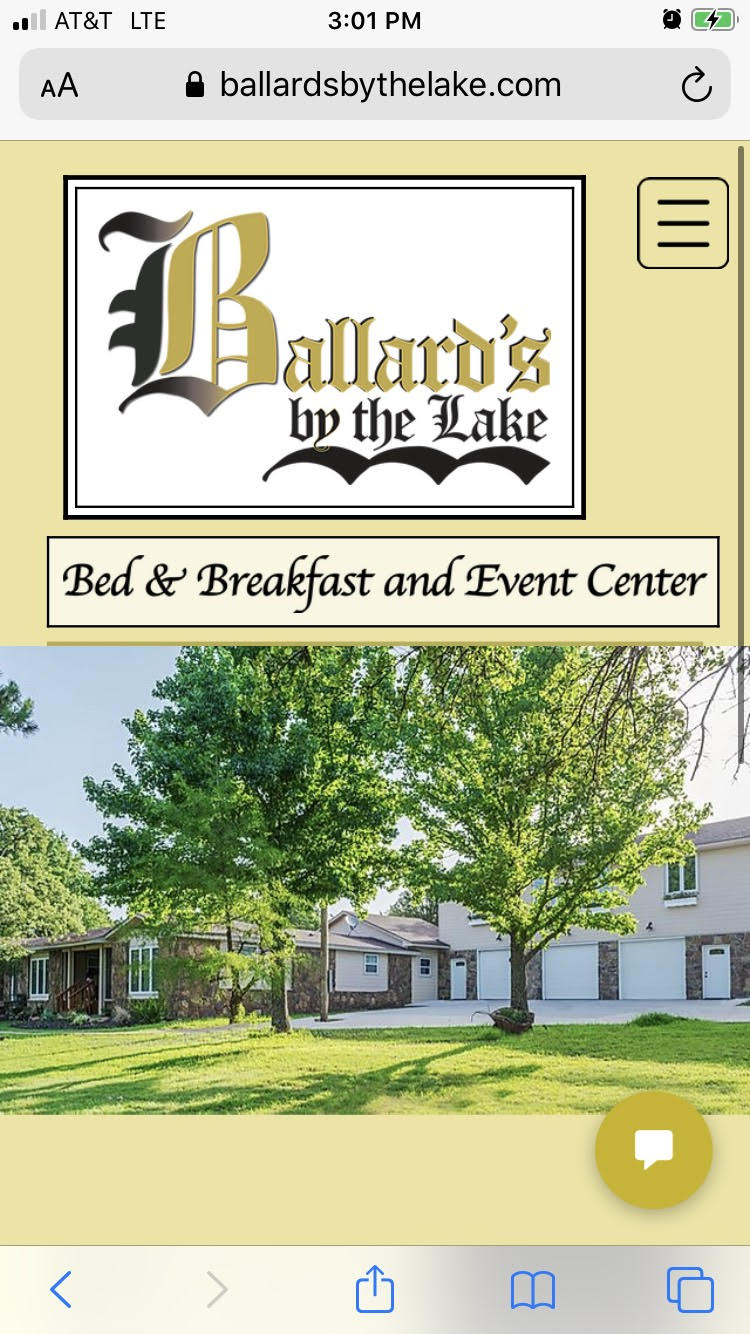 Ballard's B&B mobile main page