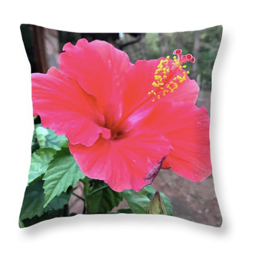 Red Hibiscus Pillow