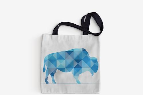 Blue Mosaic Buffalo Tote
