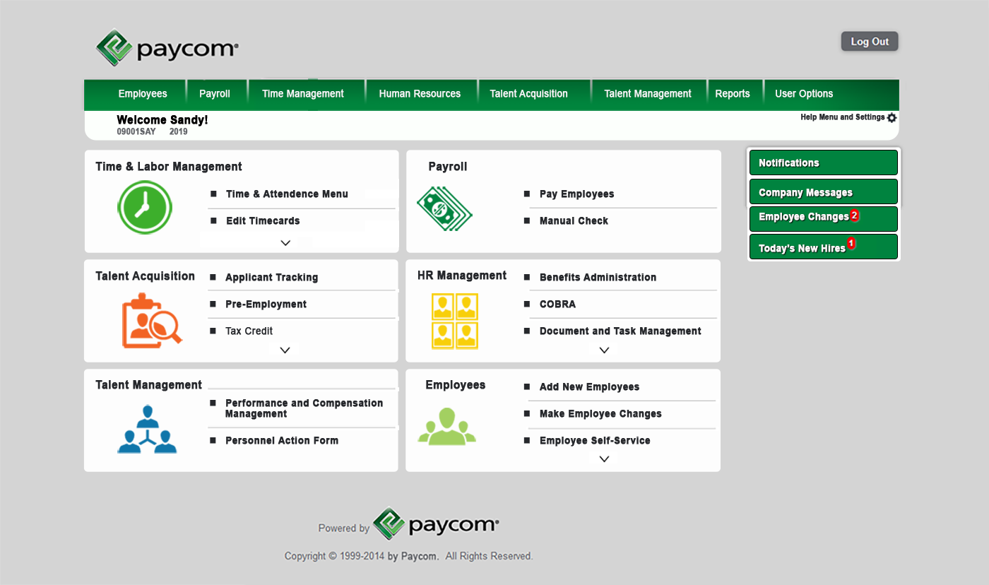 Paycom Product Application Redesign