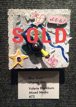 Blue Snail Lily Pad Star