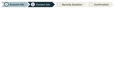 CSS Steps menu