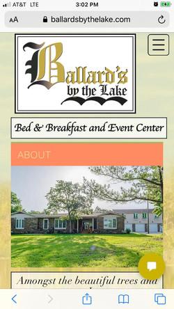 Ballard's by the lake B&B About page