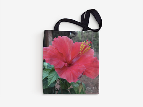 Red and Yellow Hibiscus flower - Tote