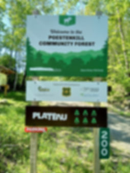 Poestenkill Community Forest sig