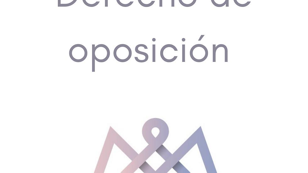 Formulario Derecho de oposición