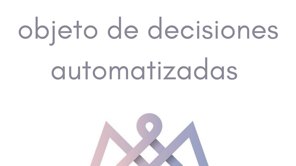Formulario Derecho a  no ser objeto de decisiones automatizadas