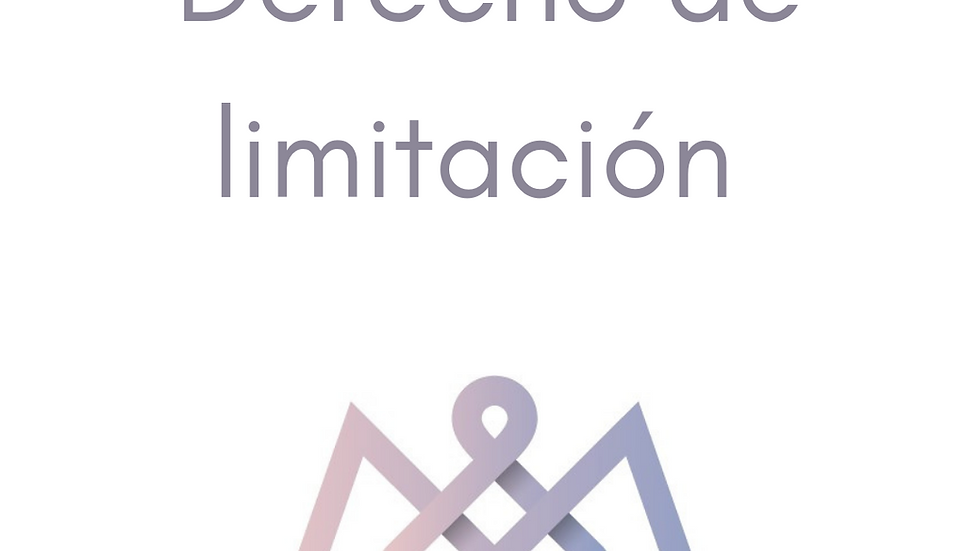 Formulario Derecho de limitación