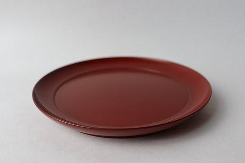 【安比塗漆器工房】6寸平皿・朱
