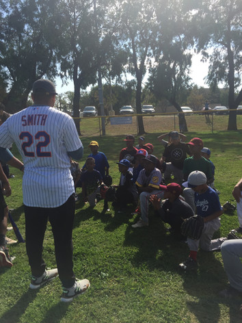 Dominic Smith at Ladera Little League Camp