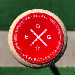 Red BaseballGenerations Bat Decal