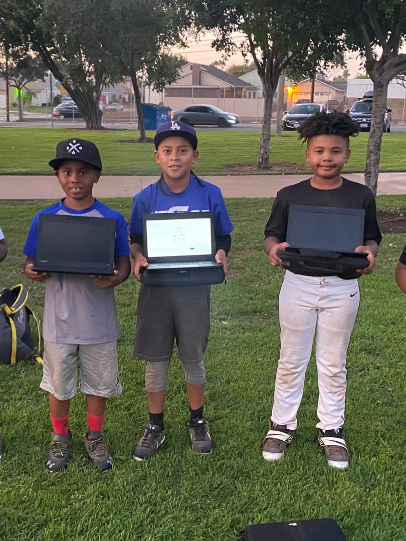 BBG Academy 10u players showing off thier new ChromeBooks