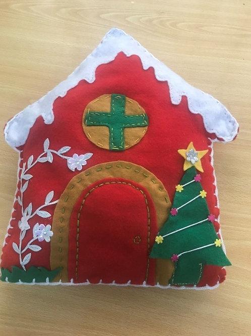 Casas de navidad (tela de fieltro)