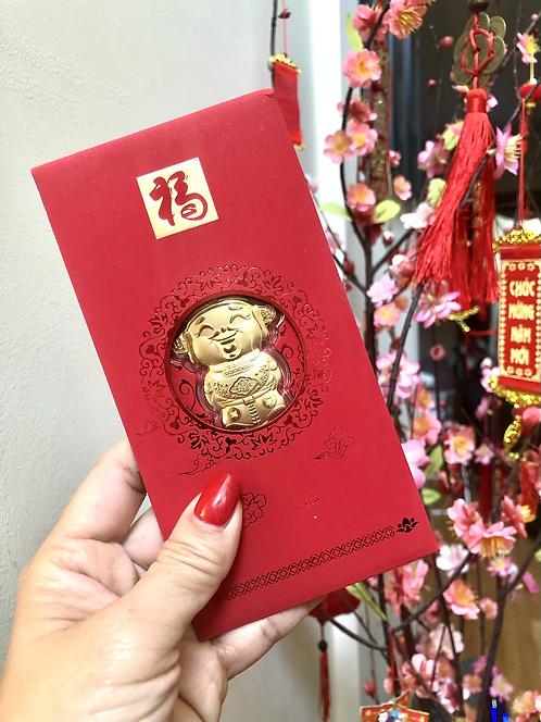 Copy of God of Wealth -24K Gold Foil Lucky Red Money Envelope