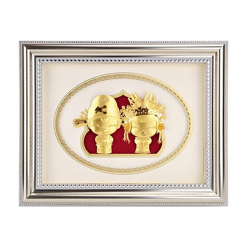 Style A- Cute Couple Wedding/ Engagement/ Marriage Gift -24K Gold Foil