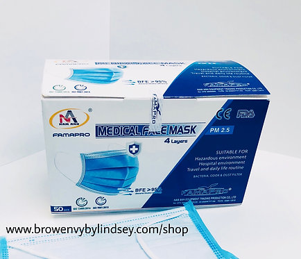 FamaPro 4-Ply Surgical Mask (FDA /CE Certified)