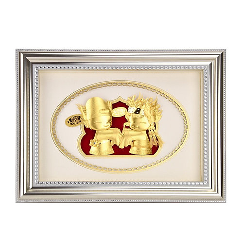 Style B- Wedding/ Engagement Gift -24K Gold Foil
