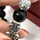 Thumbnail: 999 Pure Thai Silver | 925 Sterling Silver Pixiu with Black Obsidian Stone | Att