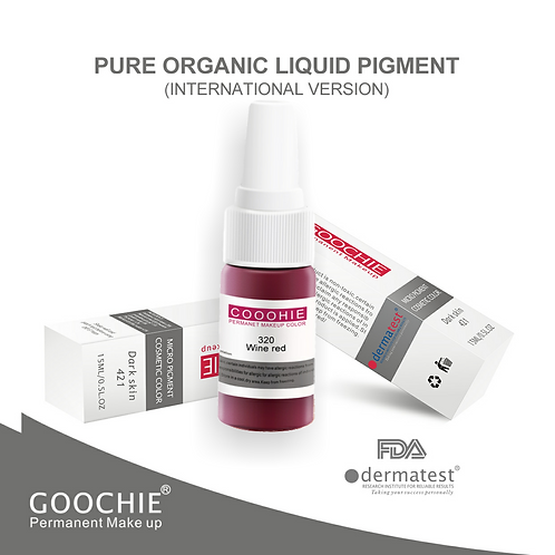 Goochie Pure Organic Pigments #320 Wine Red