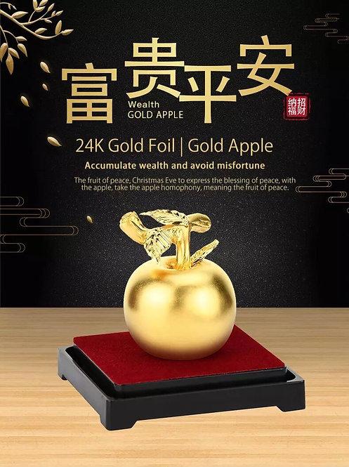 Feng Shui 24K Golden Apple -999 Gold foil/ Plated