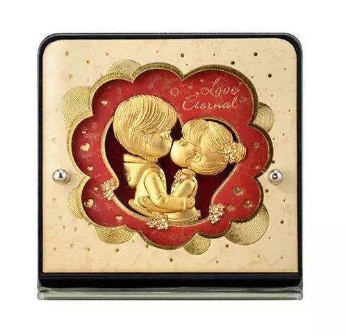 """Love Eternal"" 24K Gold Foil- Cute Couple Frame-"