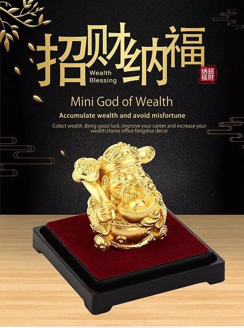 Feng Shui -God of Wealth  24K Gold Plated/ 999 Gold Foil