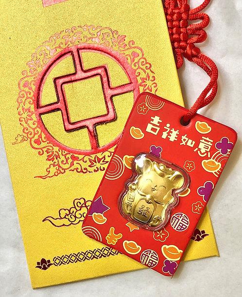 Lucky Panda 24K  Gold Foil w/ Lucky Envelope-