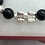 Thumbnail: 999 Pure 925 Sterling Silver Pixiu with Black Obsidian Stone