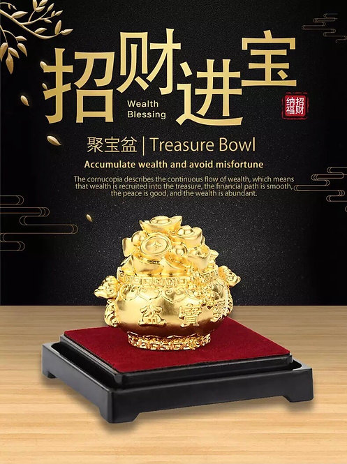 24K Treasure Bowl  /999 Gold Foil- Feng Shui