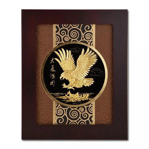 3D Eagle Frame 24K Gold Foil