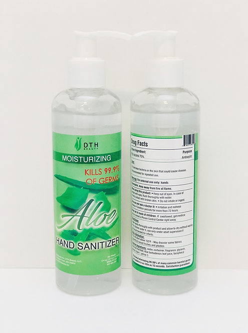 Aloe Hand Sanitizer by DTH Beauty 8oz 70% Alcohol