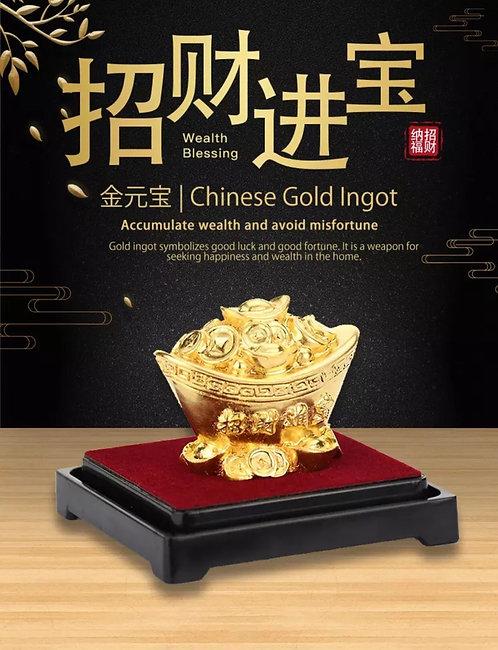 24K Gold Ingot Foil/ 999 Plated- Feng Shui