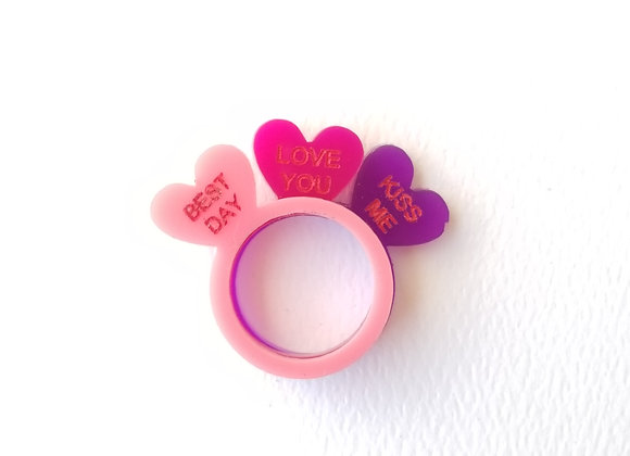 Sweet Hearts ring