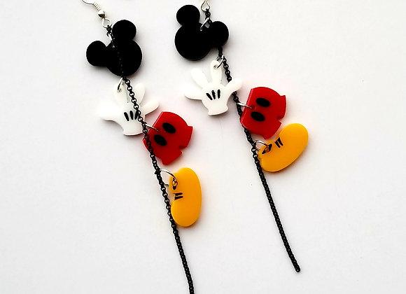 M Wardrobe dangle earrings