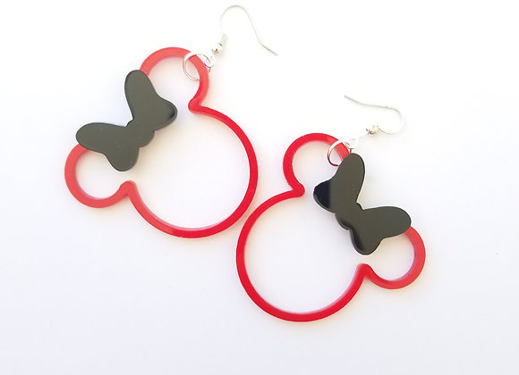 See-through Minnie earrings
